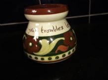 VINTAGE TORQUAY MOTTO WARE CREAM JUG BOLD HANDPAINTED DAISY DESIGN SIDE SPOUT